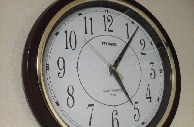 修理完了後の掛け時計
