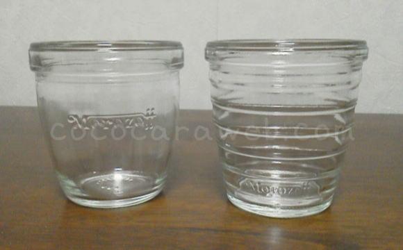 モロゾフのガラス容器のプリン
